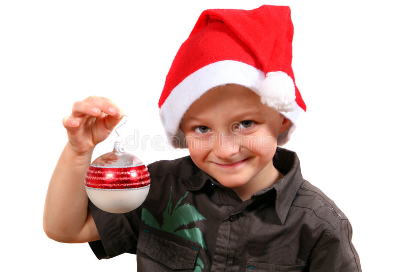 De jonge Jongen van Kerstmis royalty-vrije stock foto's