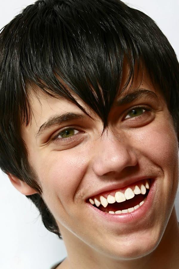 De jonge jongen van Smiley royalty-vrije stock foto