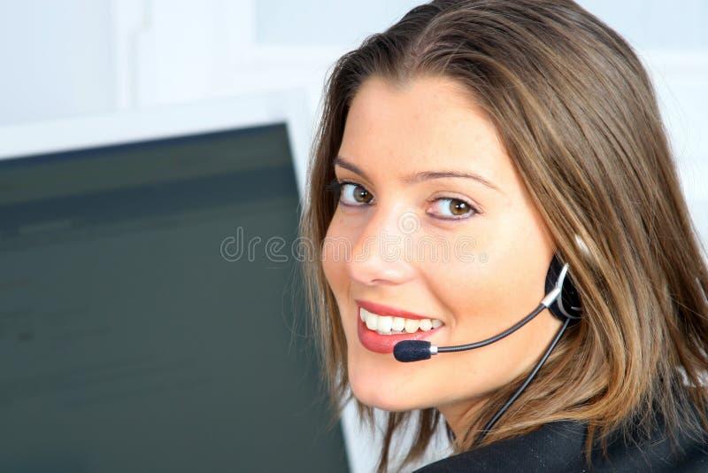De jonge klantendienst stock foto's