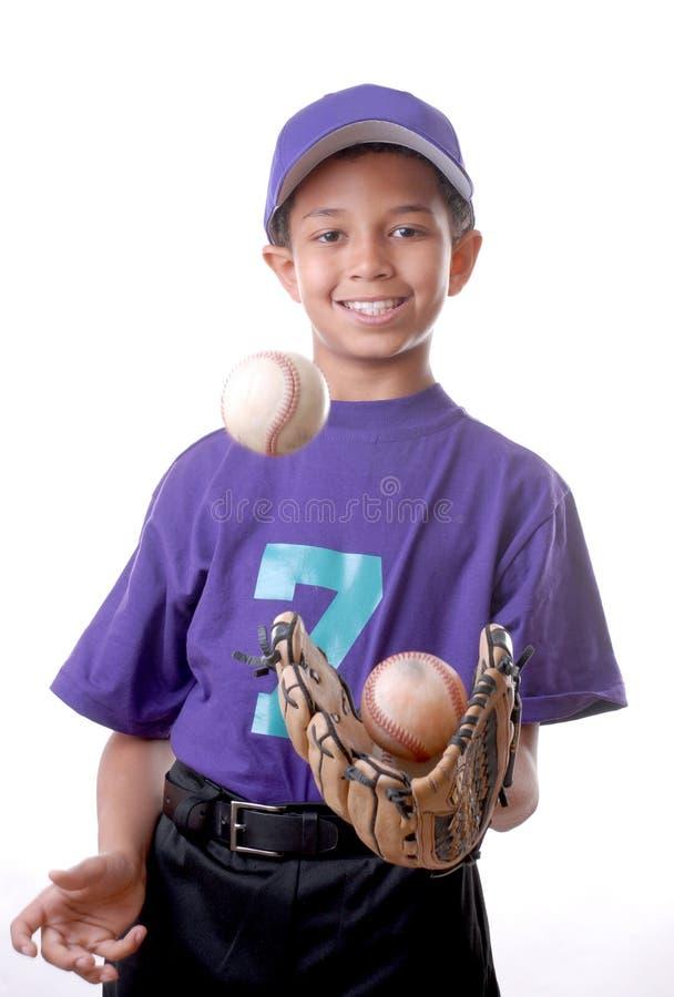 De jonge Mannelijke Speler van het Honkbal stock fotografie