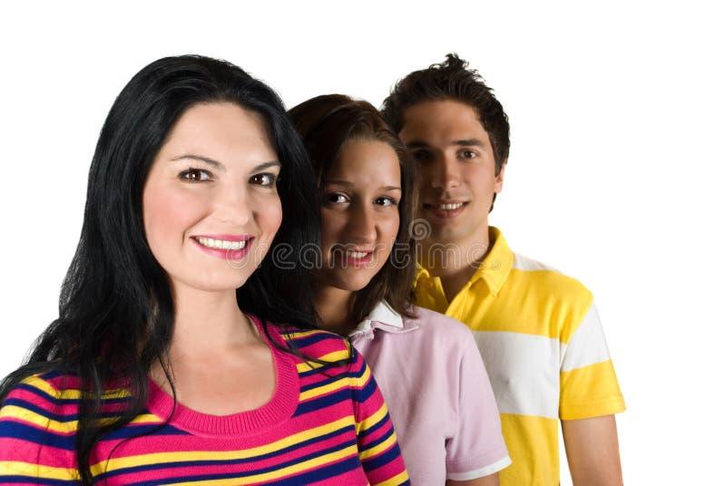 De jonge mensen van de vriendschap royalty-vrije stock foto