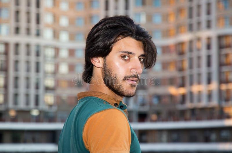 De jonge moslimmens van het portretprofiel stock foto