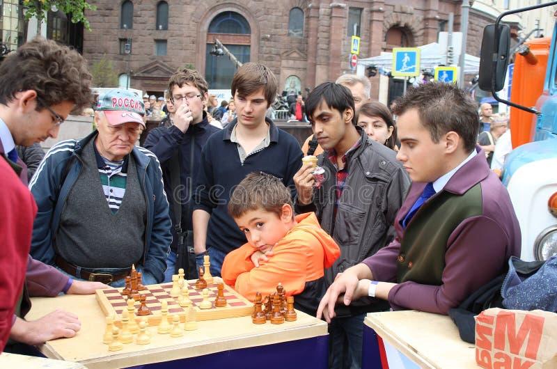 De jonge schaakspeler royalty-vrije stock afbeeldingen
