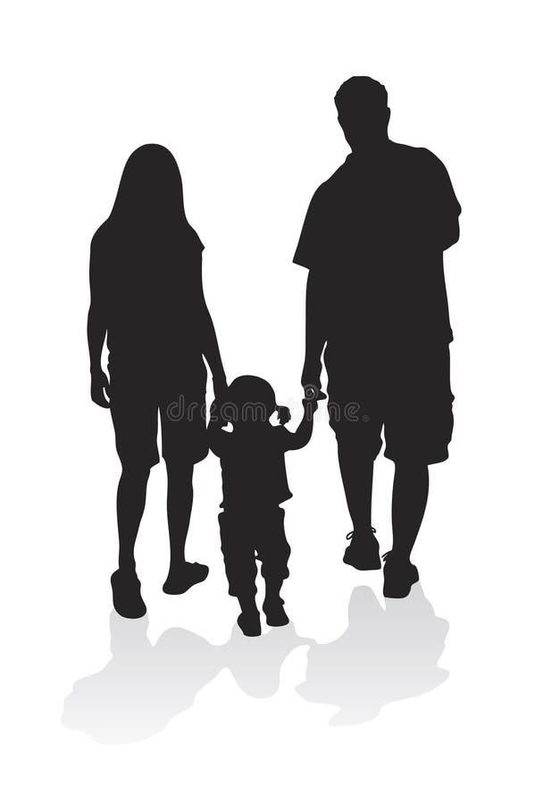 De jonge Vector van de Familie royalty-vrije illustratie