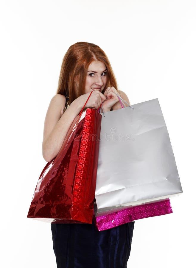Download De Jonge Vrouw Maakt Het Winkelen Stock Foto - Afbeelding bestaande uit vrij, volwassen: 54077952