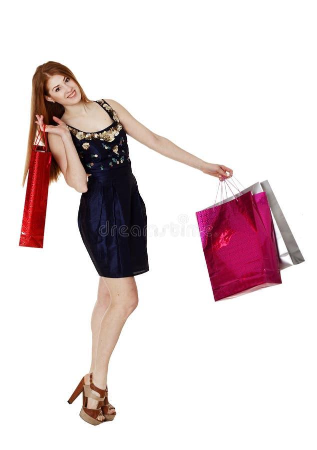 Download De Jonge Vrouw Maakt Het Winkelen Stock Afbeelding - Afbeelding bestaande uit manier, verkoop: 54078011