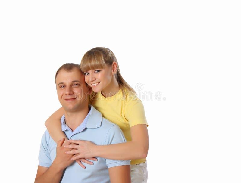 De jongelui enamoured paar stock foto's