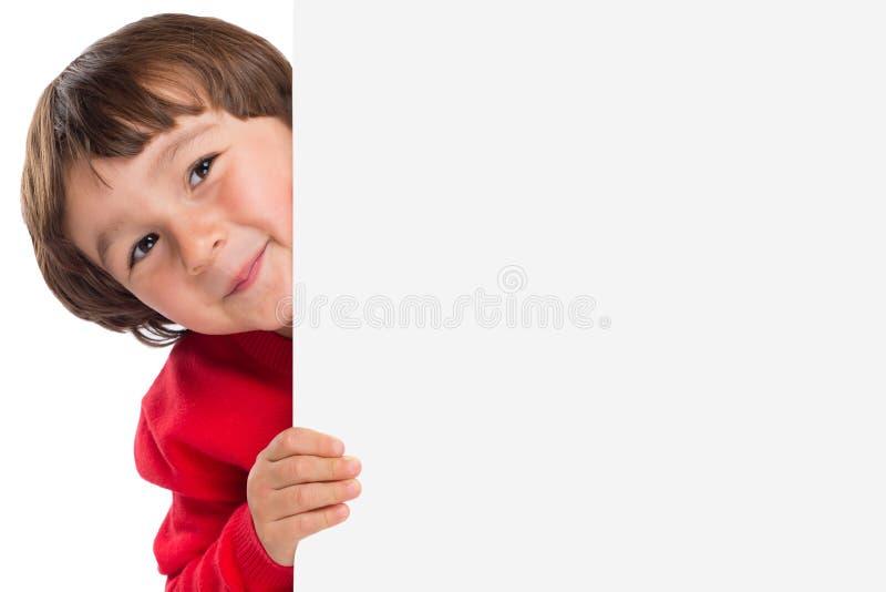 De jongelui van het kindjonge geitje weinig jongen copyspace marketing leeg leeg teken royalty-vrije stock foto