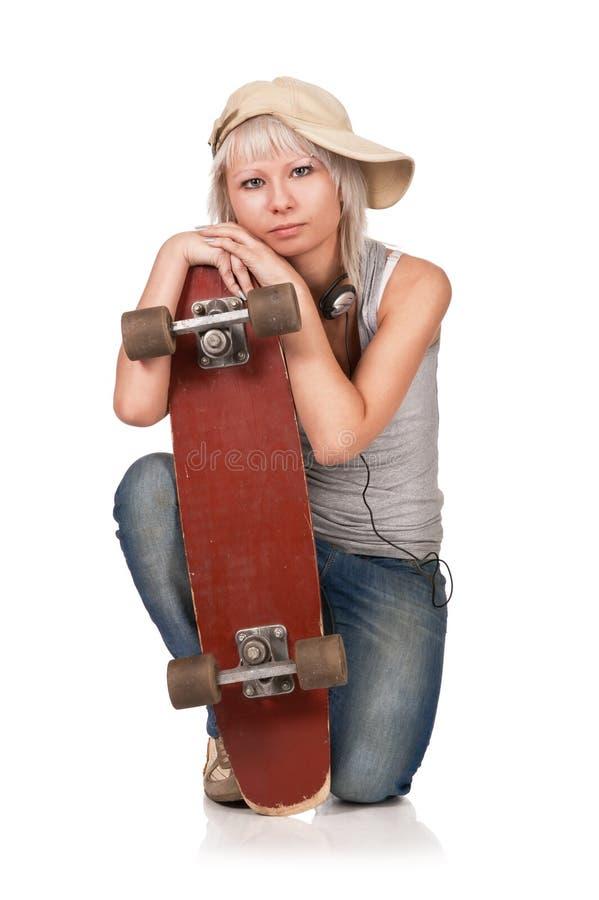 De jongelui van het portret het meisje - tiener stock fotografie