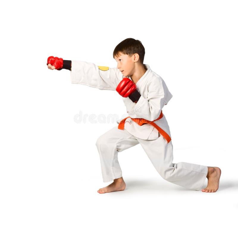 De jongen van Aikido royalty-vrije stock afbeeldingen