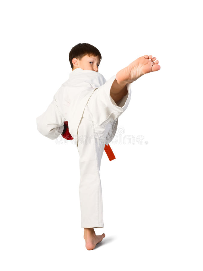 De jongen van Aikido stock fotografie