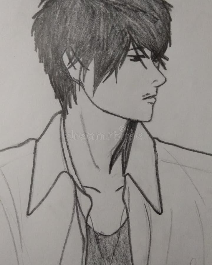De jongen van Anime stock afbeeldingen