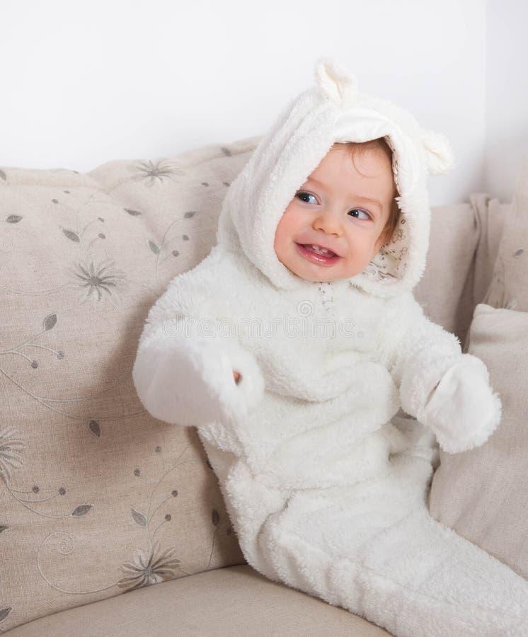 de jongen van de 1 éénjarigebaby royalty-vrije stock foto