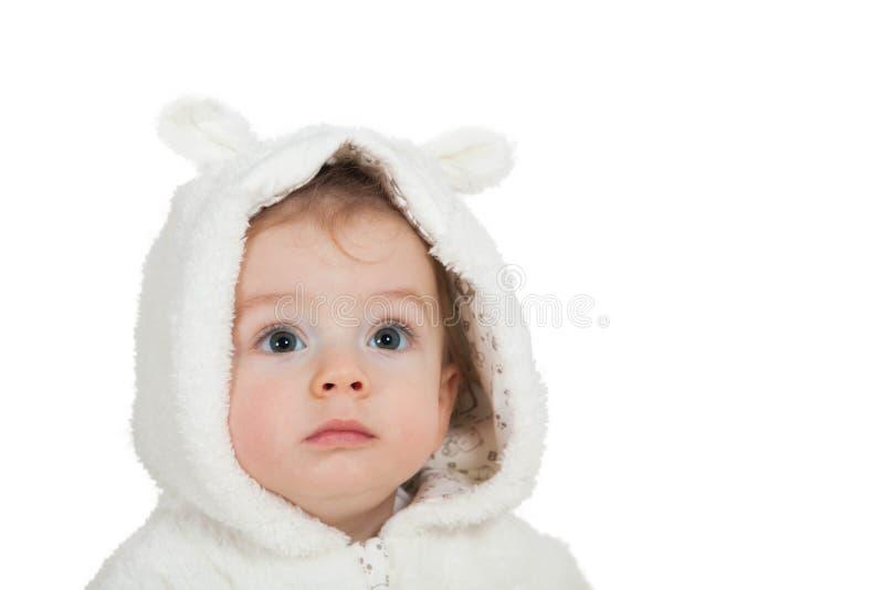 de jongen van de 1 éénjarigebaby stock afbeelding