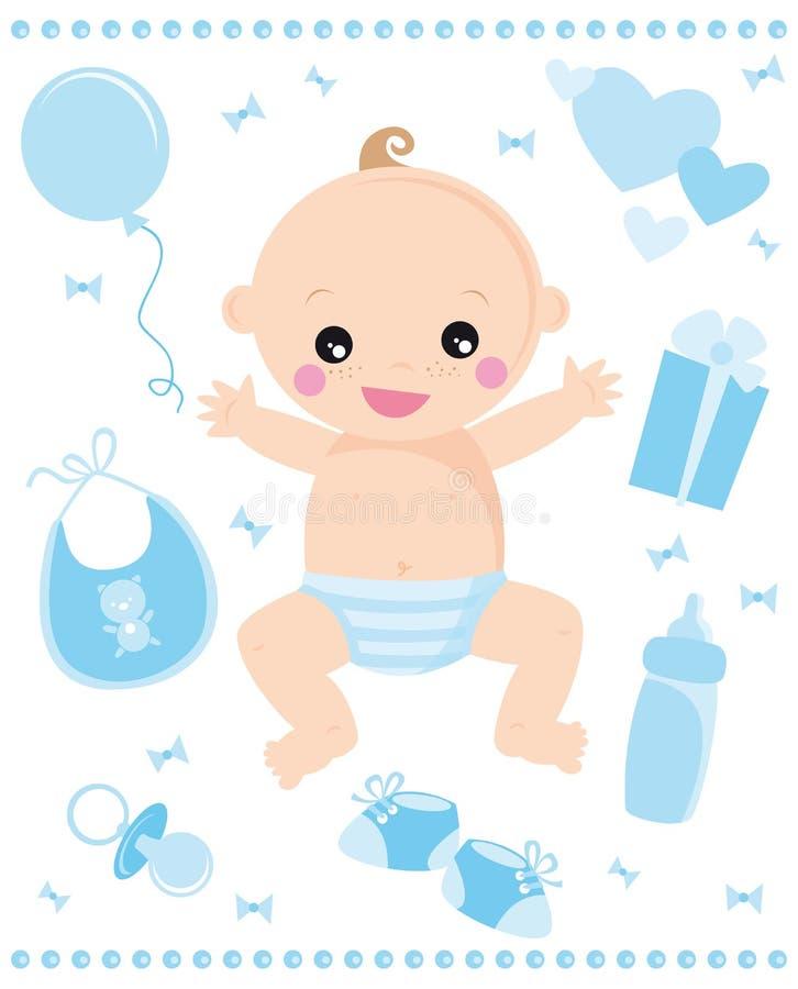 De jongen van de baby royalty-vrije illustratie