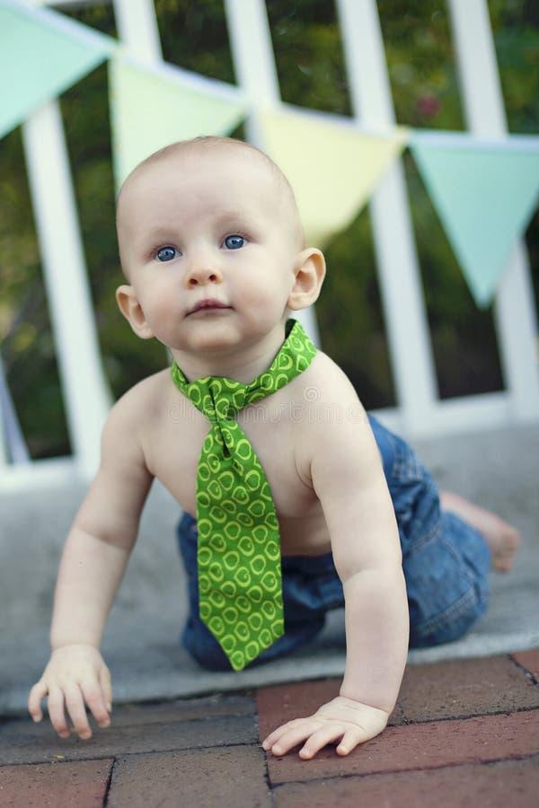 De jongen van de baby bij partij royalty-vrije stock foto's