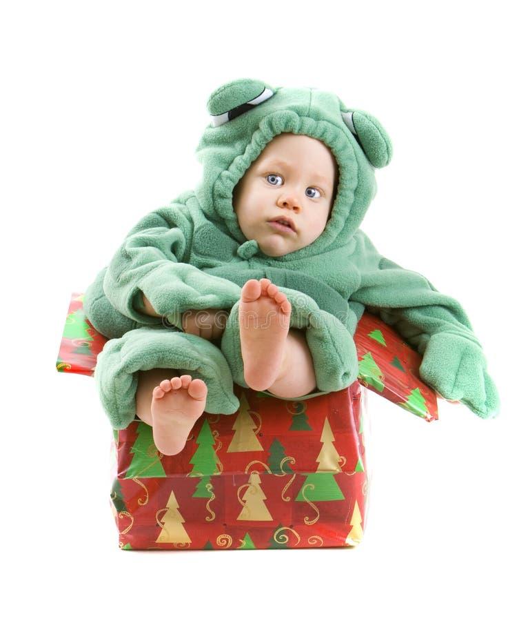 De jongen van de baby in kostuum stock foto's