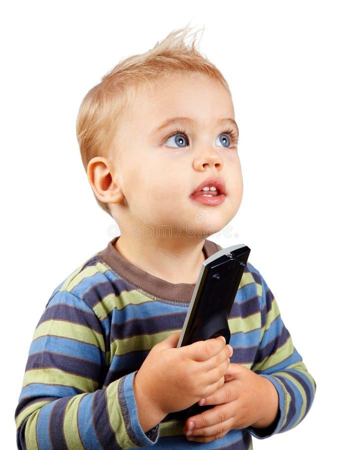 De jongen van de baby met ver royalty-vrije stock foto's