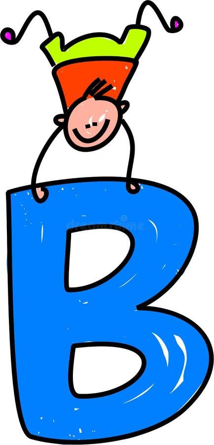 De jongen van de brief B stock illustratie