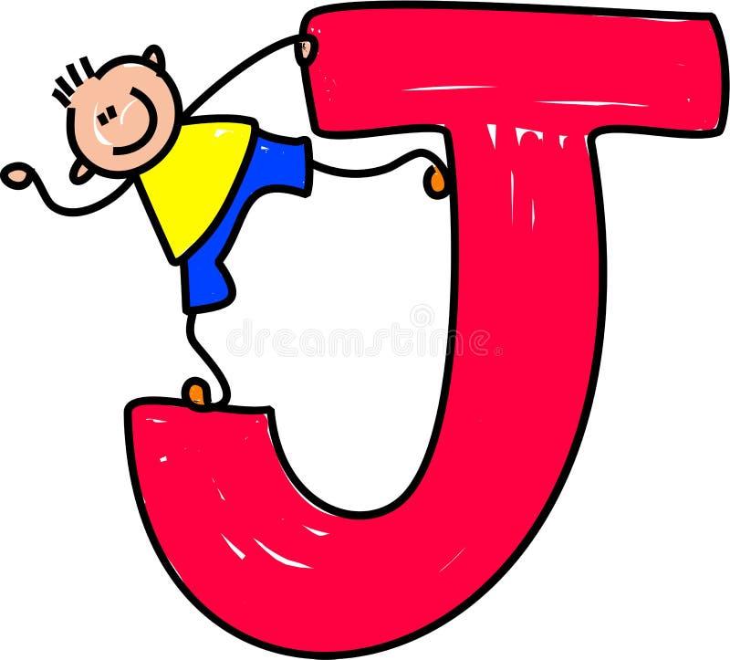 De jongen van de brief J vector illustratie
