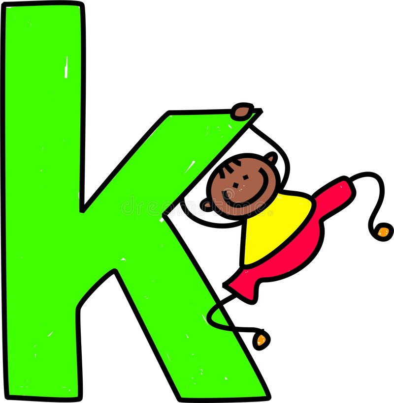De jongen van de brief K royalty-vrije illustratie