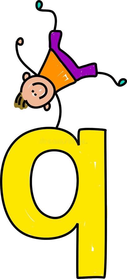 De jongen van de brief Q stock illustratie