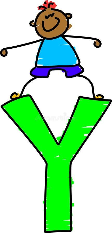 De jongen van de brief Y stock illustratie