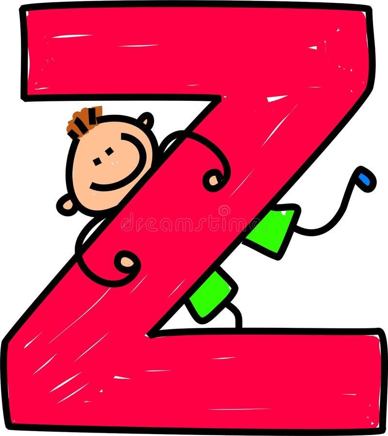 De jongen van de brief Z vector illustratie