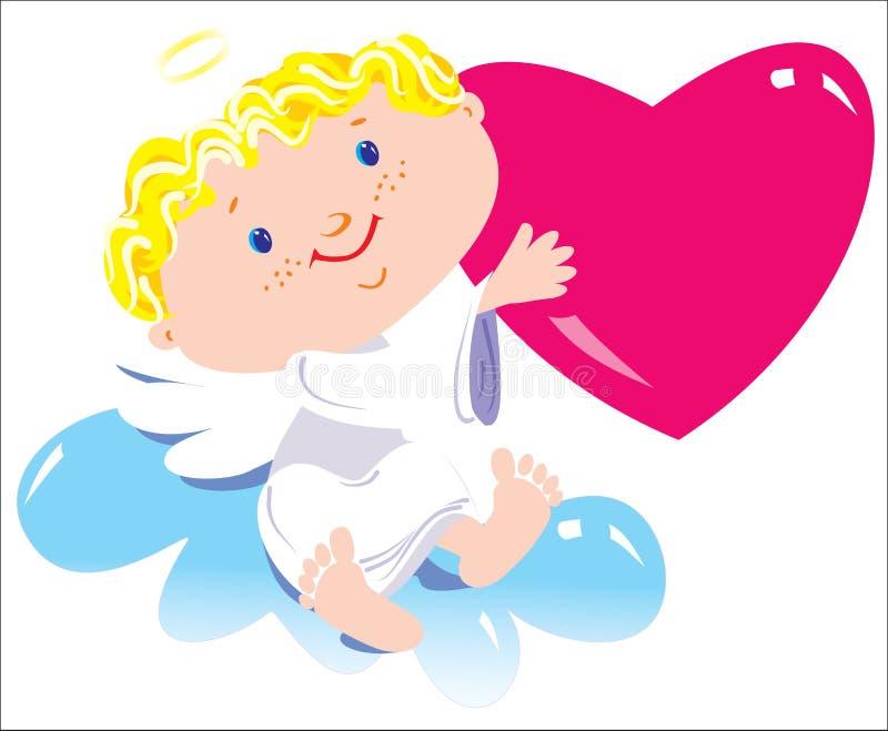De jongen van de engel stock illustratie