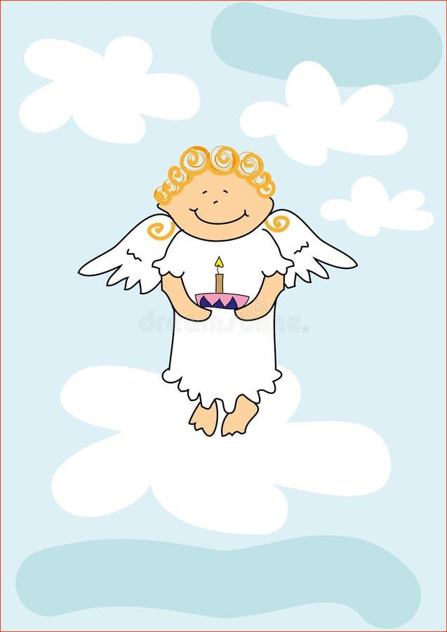 De jongen van de engel royalty-vrije illustratie