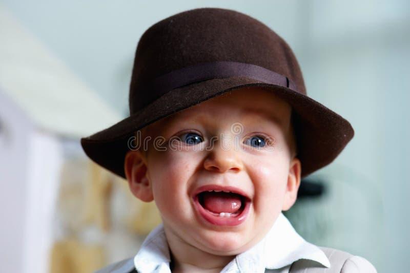 De jongen van de glimlachbaby royalty-vrije stock afbeeldingen
