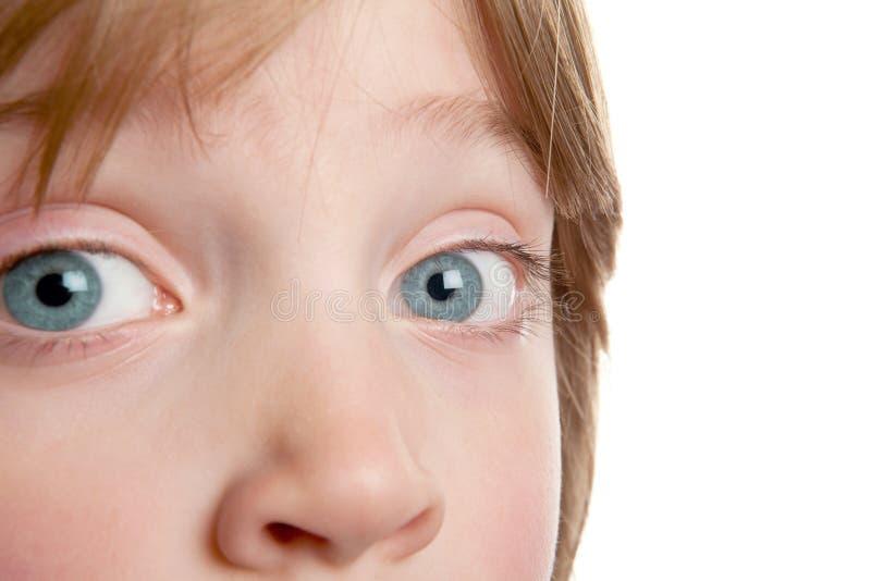 De jongen van de het kindiris van het oog stock afbeelding
