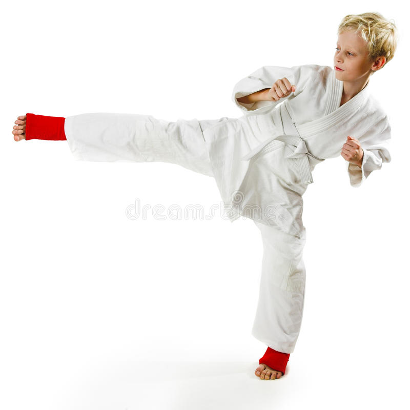 De jongen van de karate royalty-vrije stock afbeeldingen