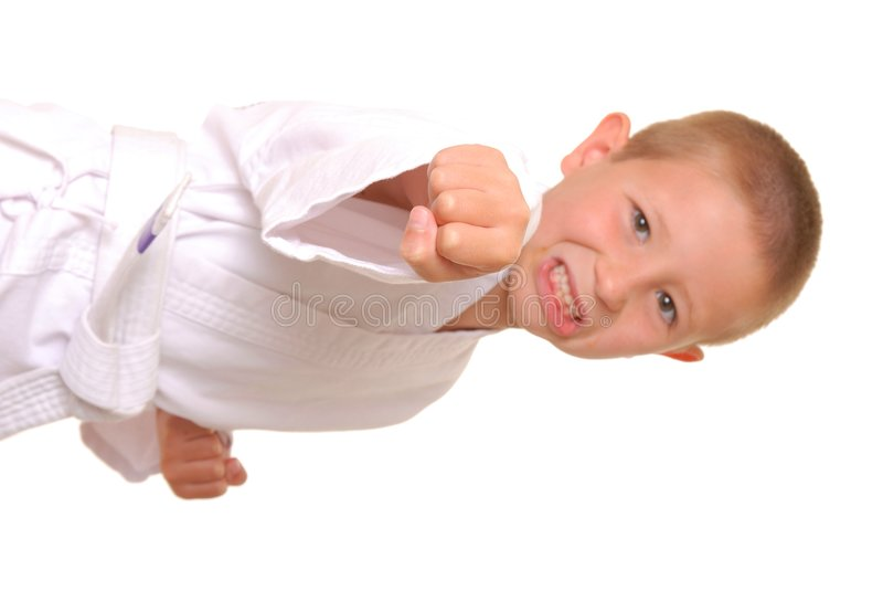 De Jongen van de karate royalty-vrije stock foto