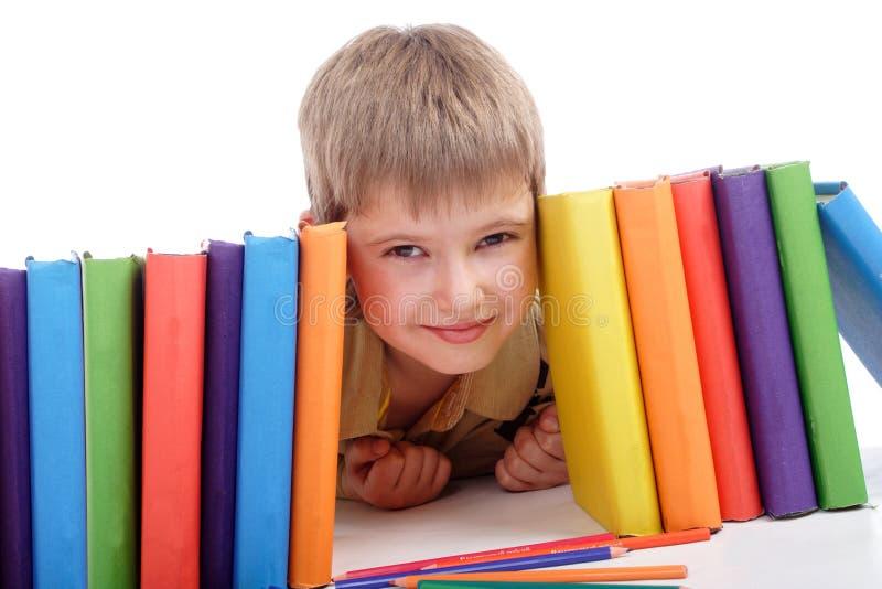 De jongen van de klasse stock fotografie