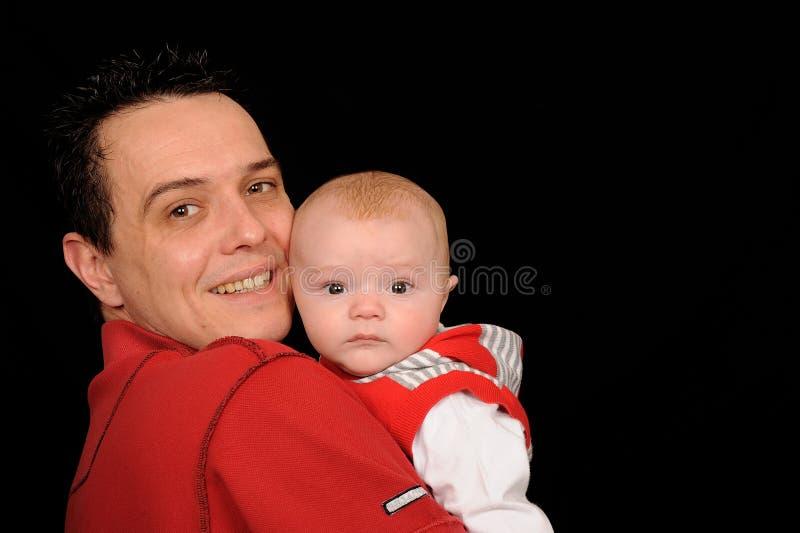 De jongen van de mens en van de zuigeling royalty-vrije stock foto