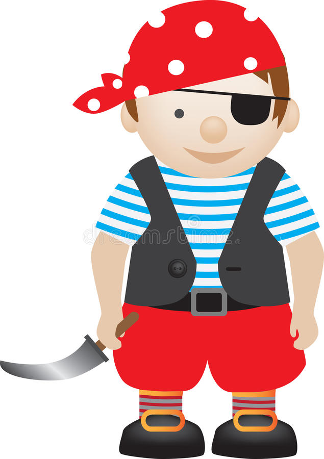 De jongen van de piraat royalty-vrije illustratie
