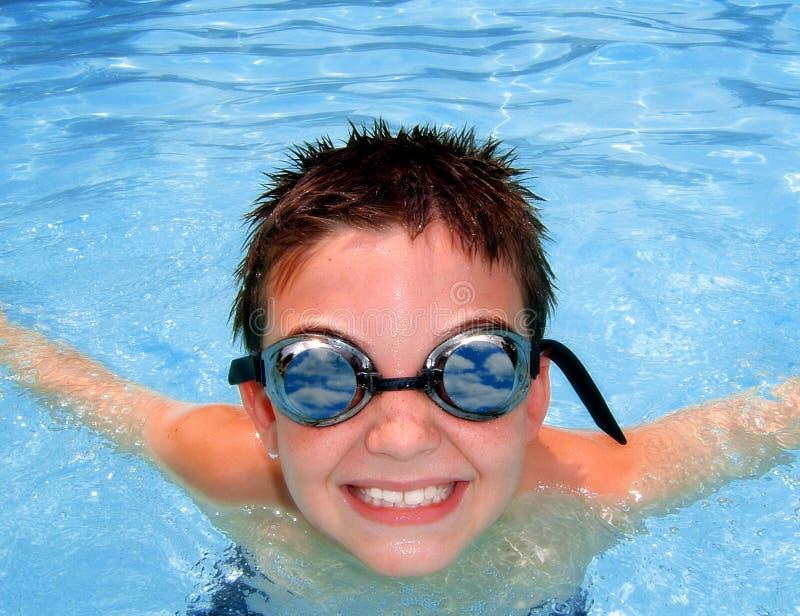 De Jongen van de pool stock fotografie