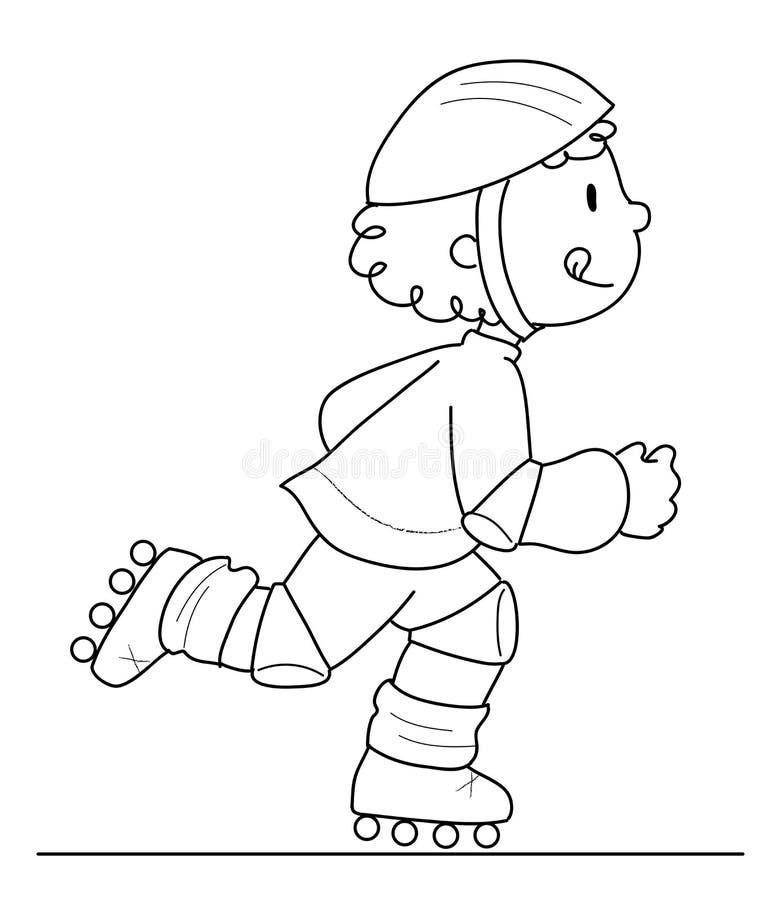 De jongen van de schaatser vector illustratie