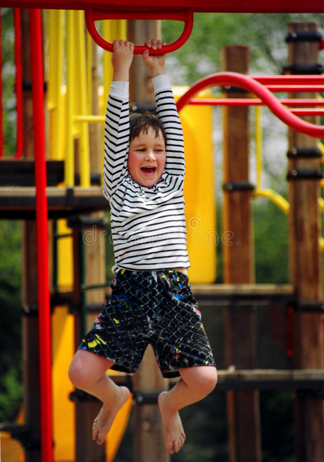 De jongen van de speelplaats royalty-vrije stock foto