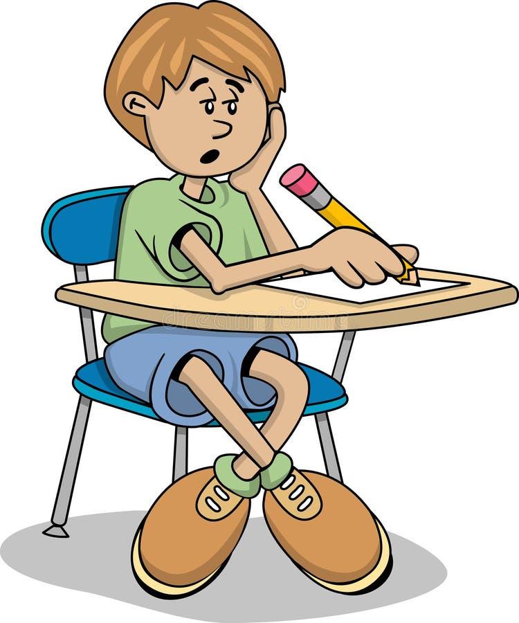 De jongen van de student stock illustratie