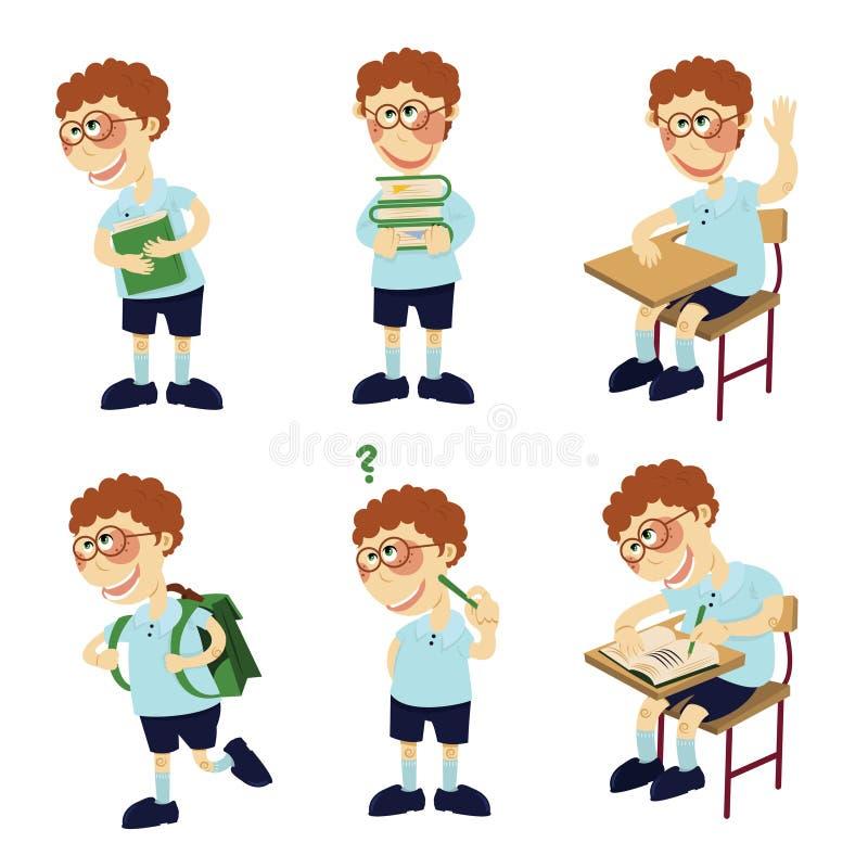 De jongen van de student royalty-vrije illustratie