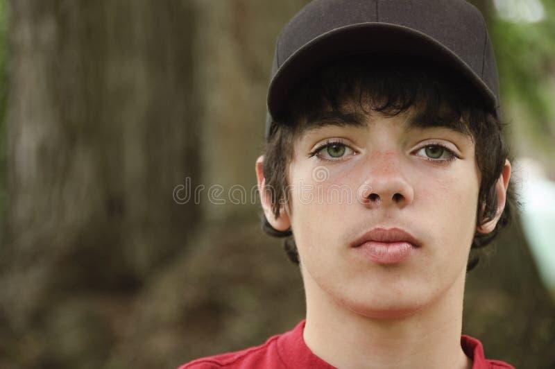 De jongen van de veertien éénjarigentiener royalty-vrije stock afbeelding