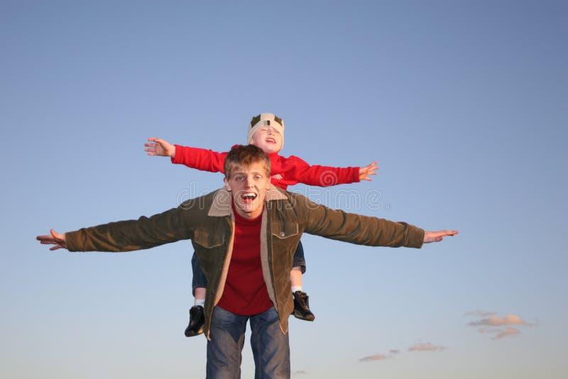 De jongen van de vlieg stock fotografie