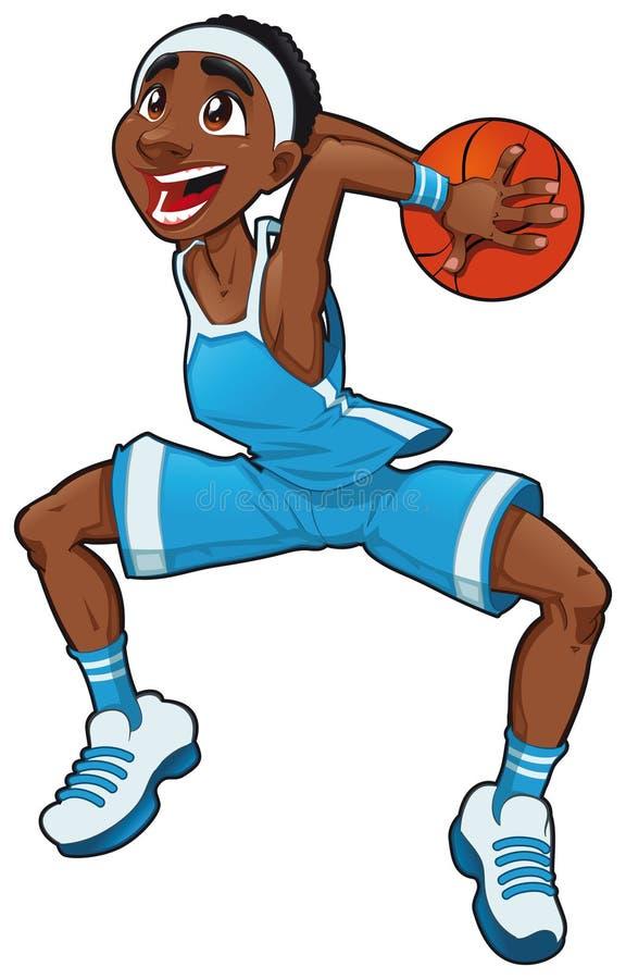 De jongen van het basketbal. stock illustratie