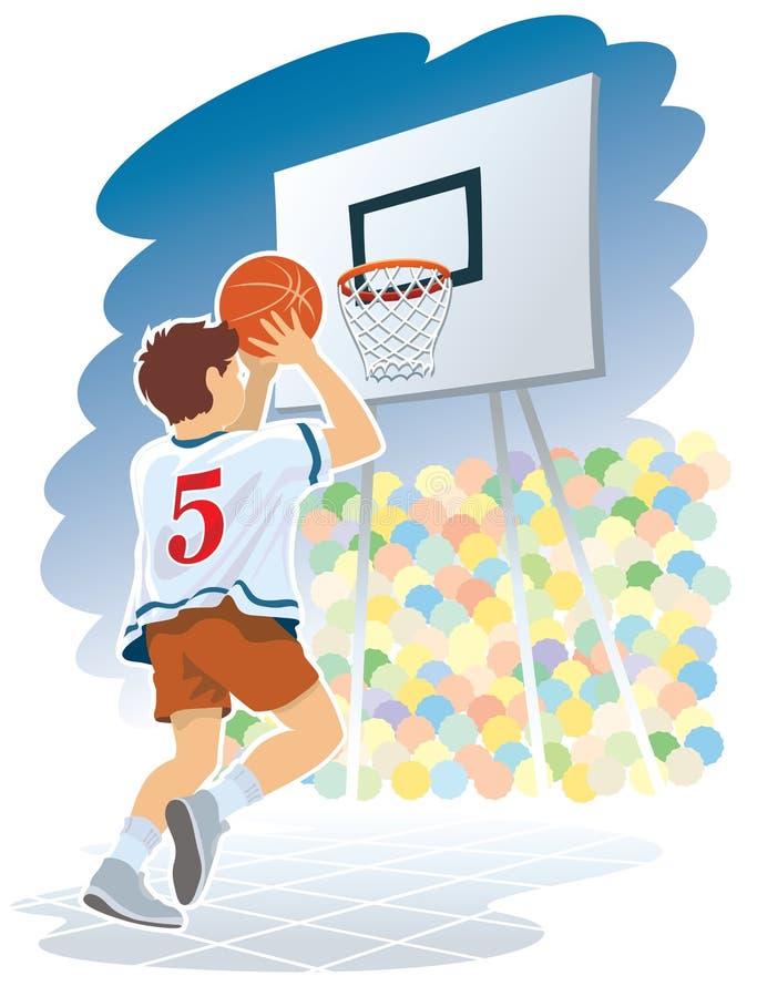 De jongen van het basketbal stock illustratie