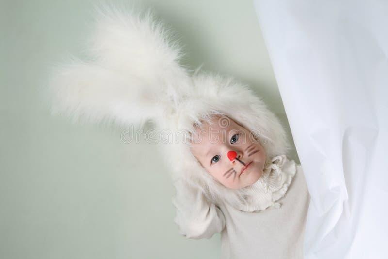 De Jongen van het konijntje stock foto