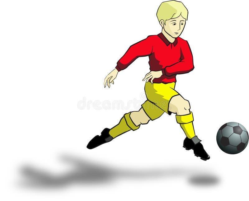 De jongen van het voetbal stock foto