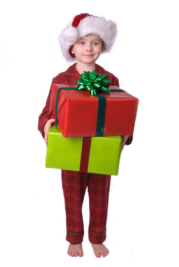 De jongen van Kerstmis stock afbeeldingen