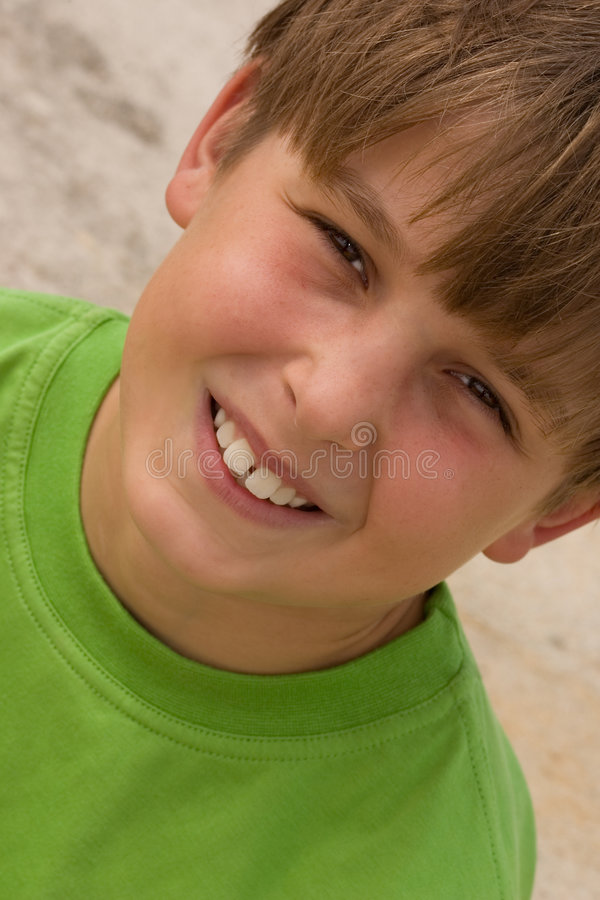 De Jongen van Smiley royalty-vrije stock foto